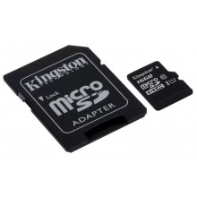 Kingston microSDHC 16GB Canvas Select UHS-I + adapter