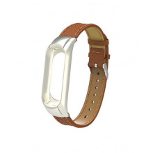 Luxurious leather bracelet for MiBand 3