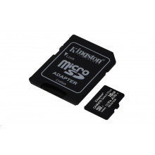 Kingston micro SDHC 16GB Canvas Select Plus 100R A1 C10 + adapter