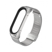 Steel bracelet for Mi Band 4/5 - silver