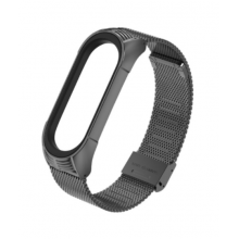 Steel bracelet for Mi Band 4/5 - black