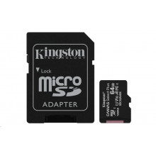 Kingston micro SDHC 64GB Canvas Select Plus 100R A1 C10 + adapter